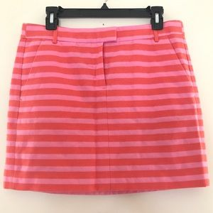 J Crew factory pink & orange stripe mini